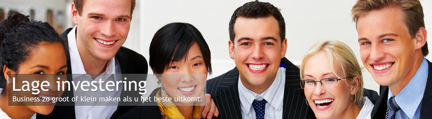 Lage investering - Business zo groot of klein maken als u het beste uitkomt.